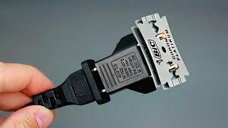 Лезвия + 220 В / Что будет если их соединить?/220 volts + razors/What if one connects them together