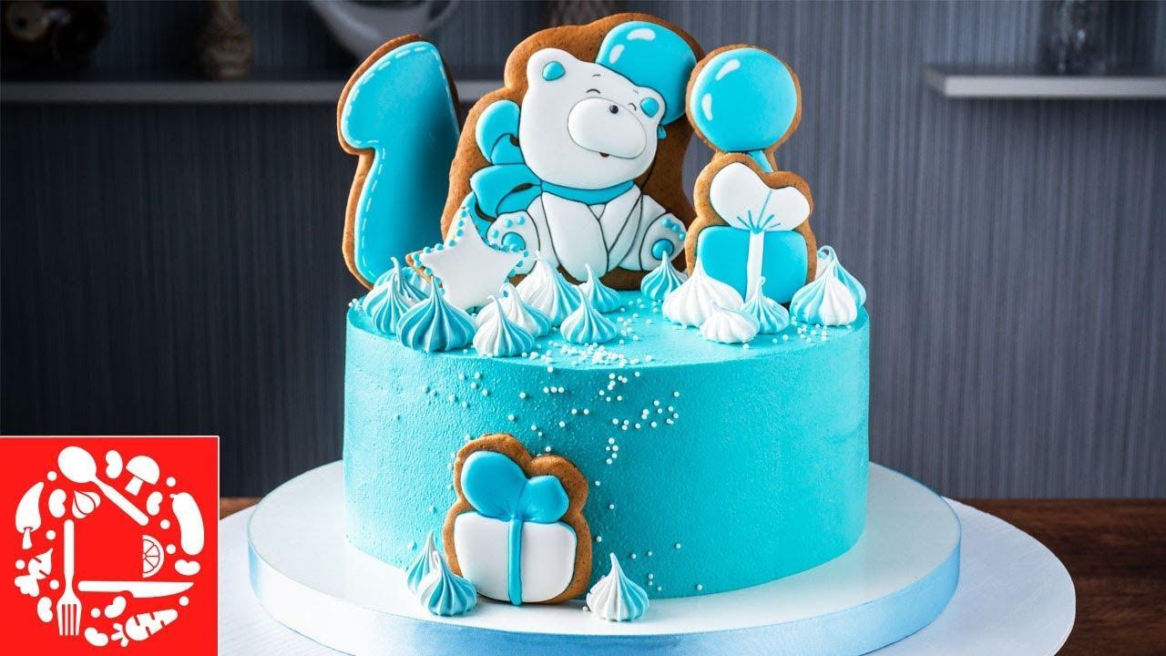 Торт без мастики мальчику на 1 год. Торт с пряничными ...