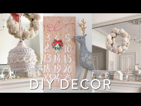 DIY Christmas Decorations on a Budget 2018 | DIY Christmas Wreath & Room Decor Ideas with Aldi [ad]