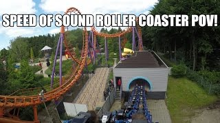 Speed of Sound AWESOME Boomerang Roller Coaster POV! Walibi Holland