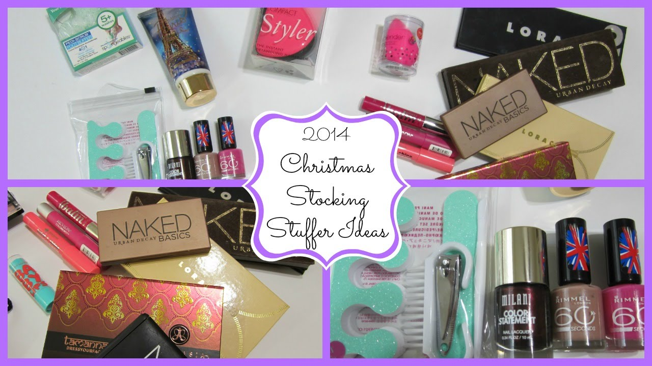 christmas stocking stuffer ideas 2014 makeupcake84 youtube