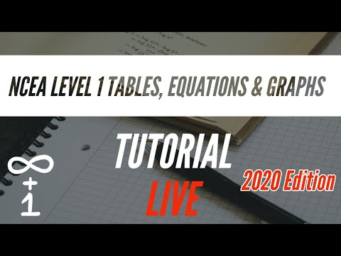 NCEA Level 1 Tables Equations & Graphs Tutorial 2 | 19 Nov 20 LATE START