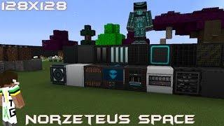 Minecraft Resource Pack Review - Norzeteus Space 1.8 [128x128] Thumbnail
