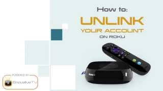 How to Unlink your account on Roku by EnovativeTV