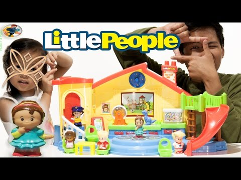 NEW Fisher Price Little People Musical Playground Playset Toy Review | Family 4 Fun Video Review