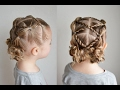 Messy Bun Bubble Pigtails with Rope Braid Accents | Q's Hairdos