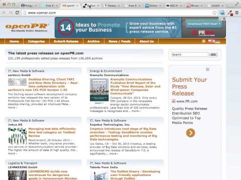 Free Traffic Sources Part 7 - Press Release Websites
