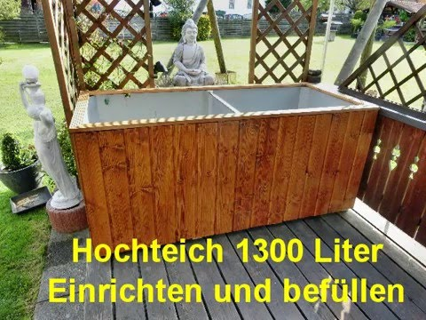 hochteich 1300 liter teil 2 youtube. Black Bedroom Furniture Sets. Home Design Ideas