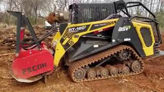 ASV RT120 Forestry Mulching Stumps and Debris