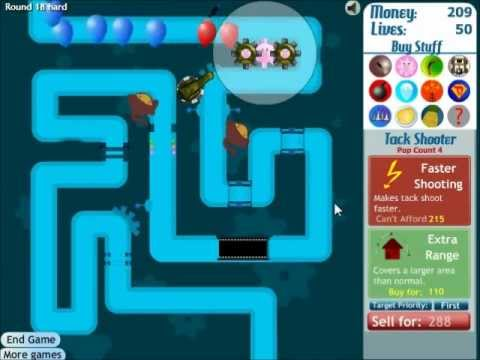 Bloons Tower Defense 3 Walkthrough Track 3 Hard No Lives Lost