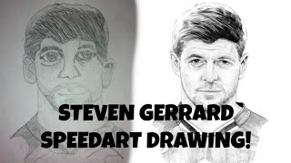 STEVEN GERRARD SPEEDART DRAWING!
