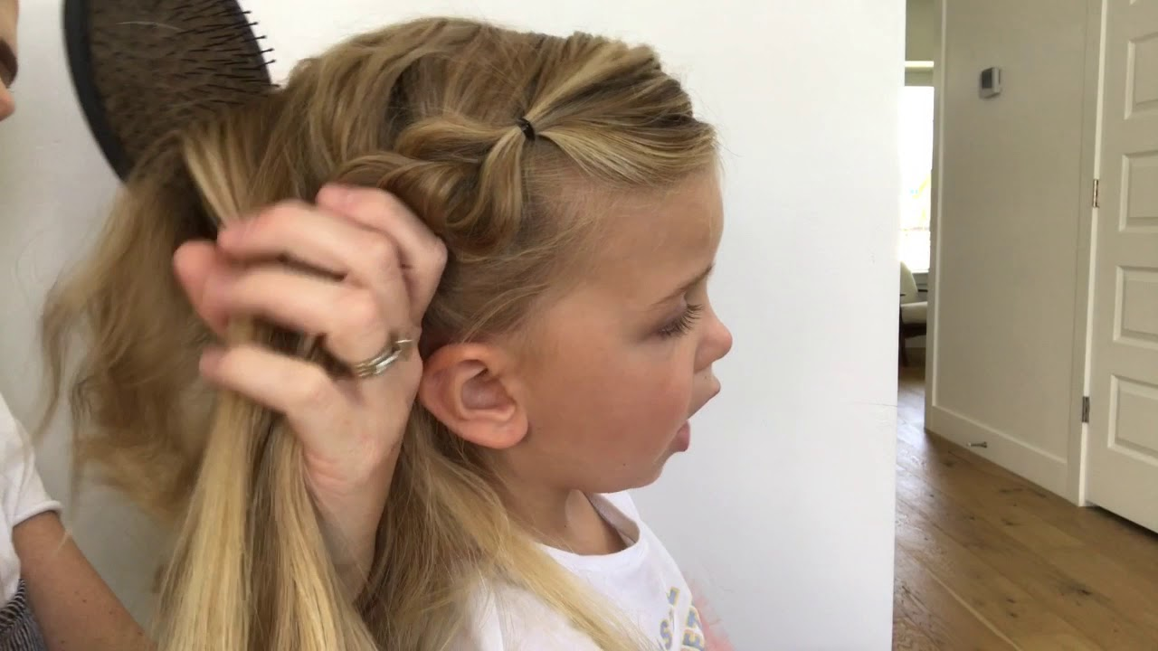 little girls hair tutorial elsa