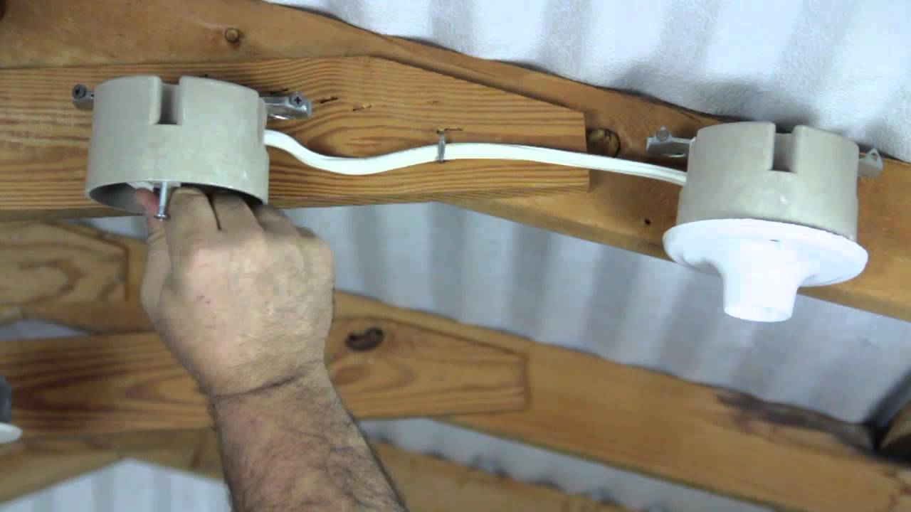 How to install two electric lights in a ceiling for How to wire a new room addition