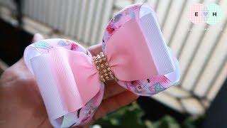 Simple 2 Layers - Laço de Fita 🎀 Ribbon Bow Tutorial #10 🎀 DIY by Elysia Handmade
