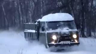 УАЗ-3303-01 немного снега