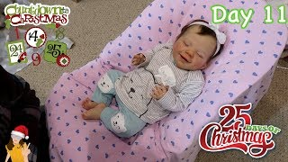 Reborn Countdown to Christmas! Changing Baby Hazel - Day 11 | Kelli Maple
