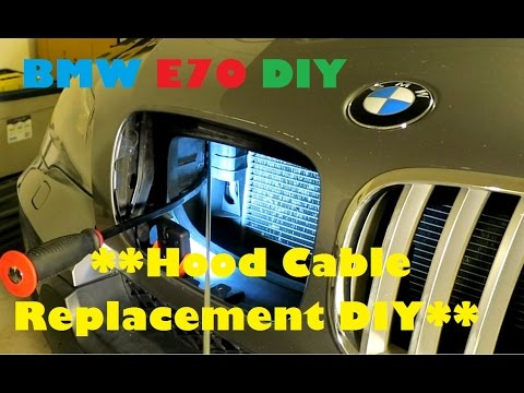 Bmw E70 X5 Stuck Hood Latch Amp Cable Replacement Diy Youtube