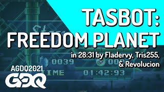 Freedom Planet TAS by Fladervy, Tris255, Revolucion in 28:31 - Awesome Games Done Quick 2021 Online