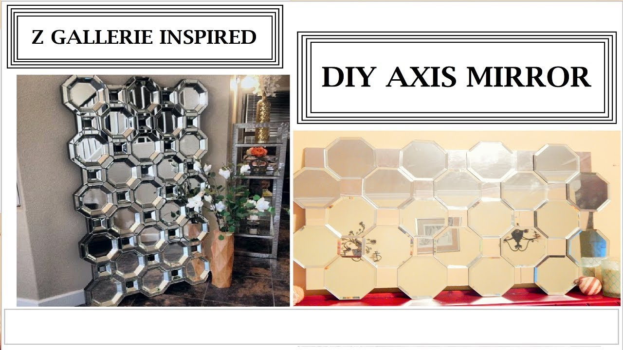 Z Gallerie Inspired Diy Axis Mirror Youtube