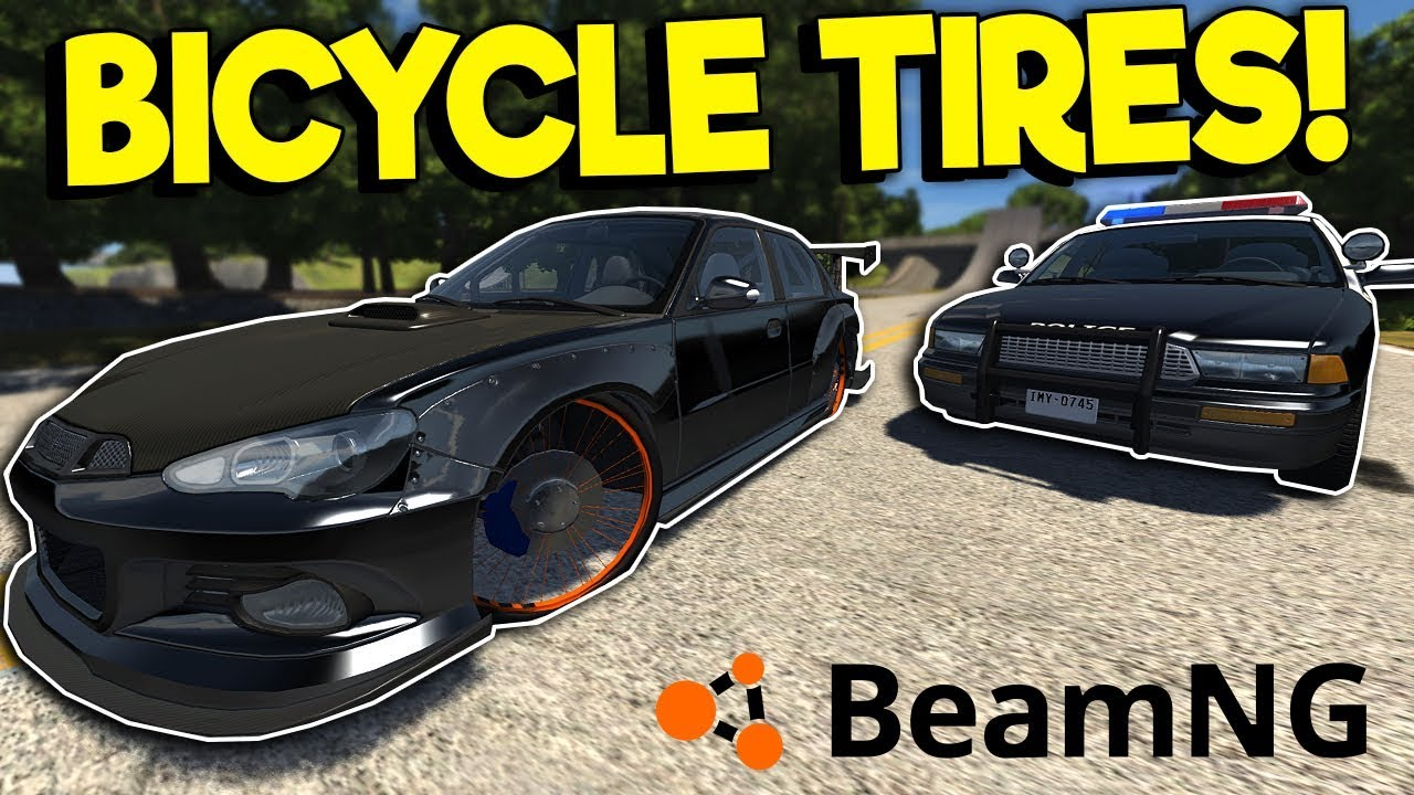 BICYCLE WHEEL POLICE CHASE!