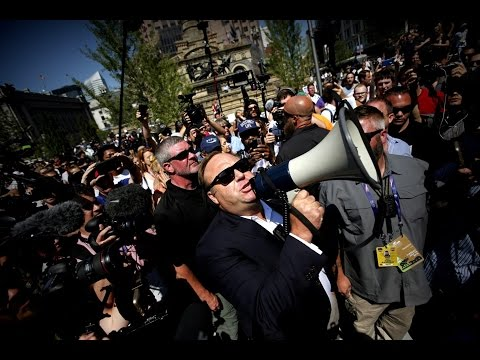 Alex Jones Preaches Conspiracy Theories, Trump Listens