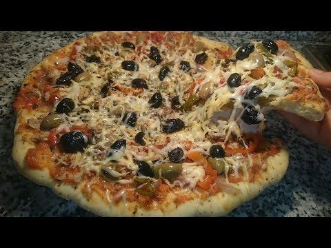 صورة  طريقة عمل البيتزا بيتزا سهلة بعجينة ناجحة100% وحشوة لذيذة طريقة عمل البيتزا من يوتيوب