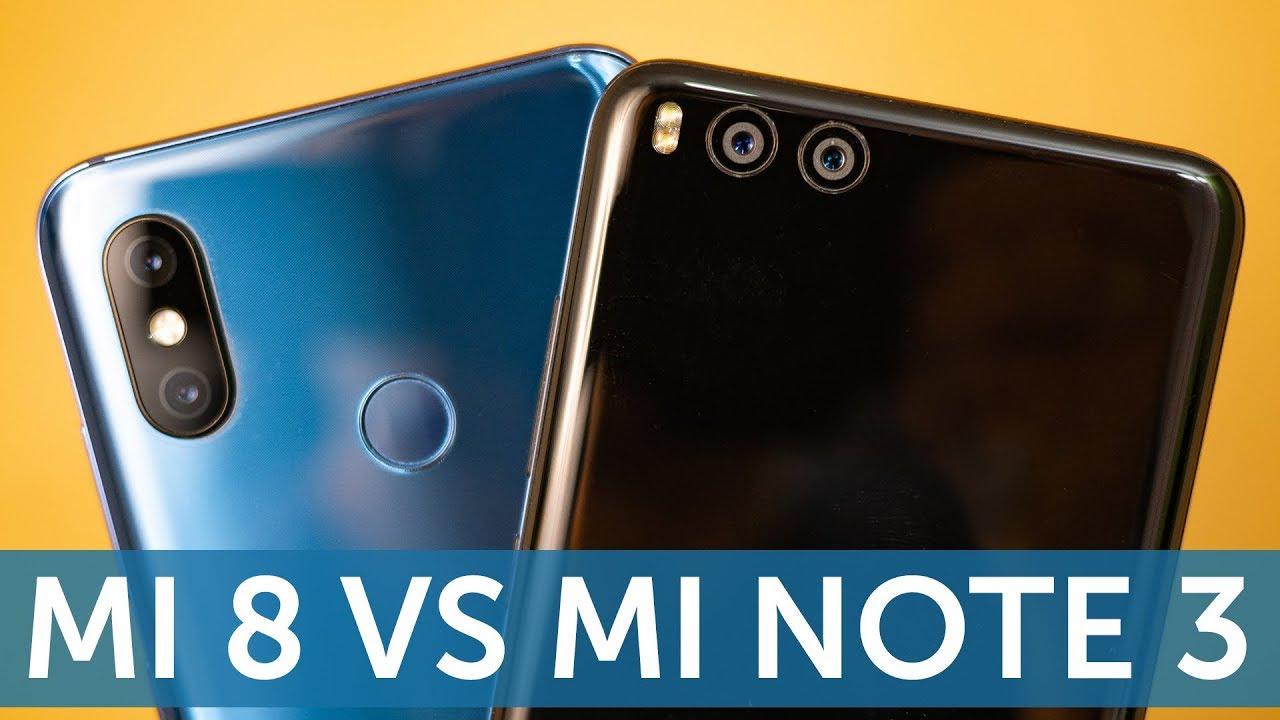 Xiaomi Mi 8 vs Mi Note 3 (Mi 6) сравнение камер в фото и видео (Camera  Compare)