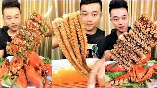 Eating show compilation chinese food octopus | eat plenty of food