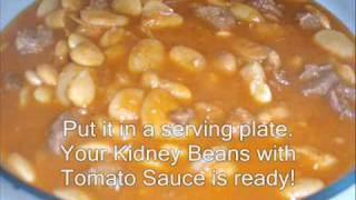 Fasoola Bayda (kidney Beans And Rice Dish)