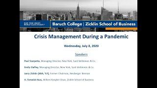 Crisis Management During a Pandemic Webinar