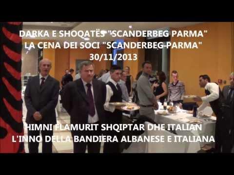 Himni Shqiptar dhe Italian kënduar nga antarët e shoqatës Scanderbeg Parma - 2013