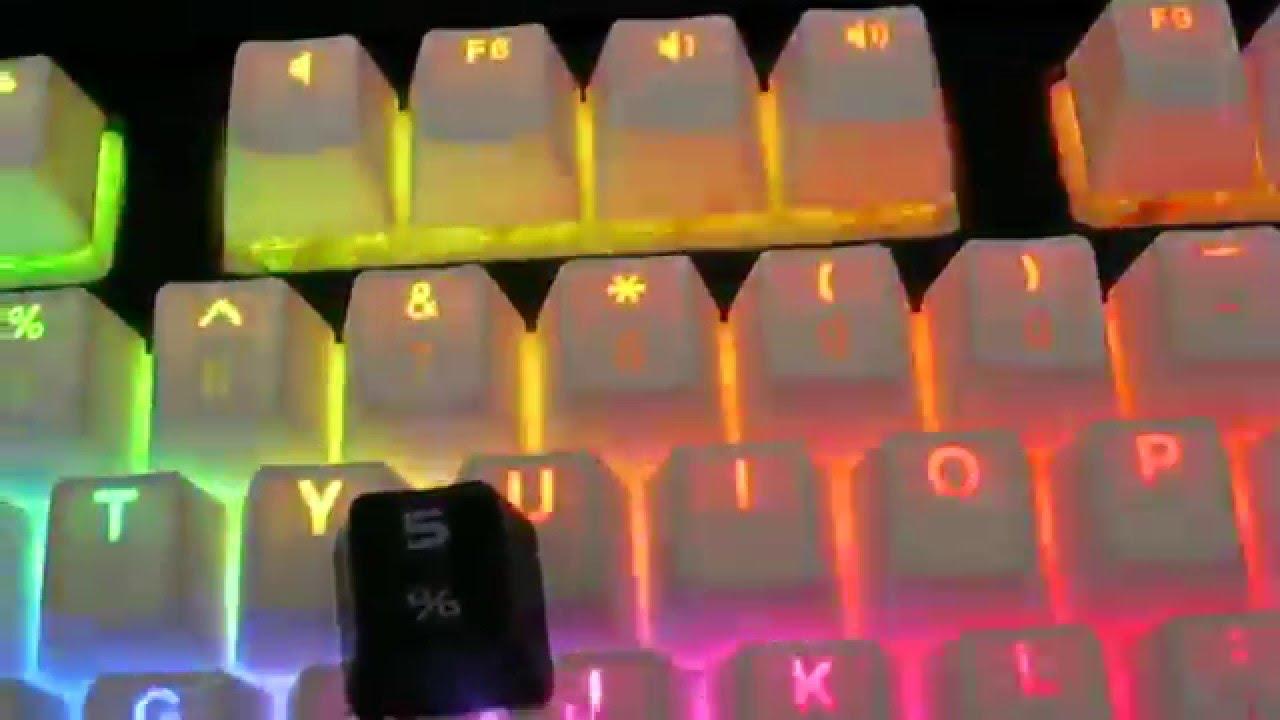 515e9b1488f VORTEX Backlit Doubleshot PBT Keycaps on Corsair Strafe RGB Review ...