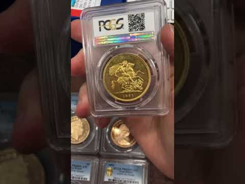 Modern Elizabeth II  5  pounds gold sovereign  and more...