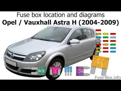 fuse box location and diagrams: opel astra h (2004-2009) - youtube  youtube