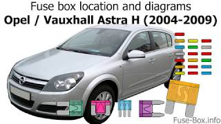 Fuse box location and diagrams: Opel Astra H (2004-2009) - YouTube | Ts Astra Fuse Box |  | YouTube