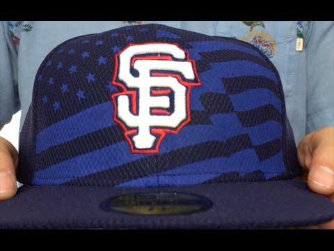 ef4de8a9cb8ae SF Giants  2015 JULY 4TH STARS N STRIPES  Hat by New Era - YouTube