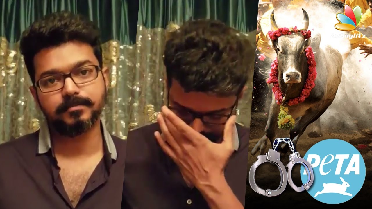 Ilayathalapathy Vijays Sarcastic Remark Against Peta Jallikattu Ban Protest Speech Youtube