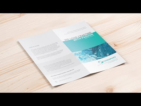 Photoshop Tutorial: Creating A4 DL Bi fold brochure Mockup Only thumbnail