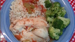 Super Quick Fish With Tomatoes And Green Chilies Recipe ~ Noreen's Kitchen