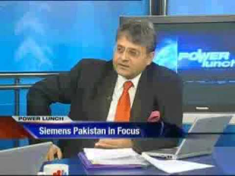 Junaid Iqbal with Mr. Sohail Wajahat H. Siddiqui Siemens Pakistan on Power Lunch CNBC Pak P#1.flv