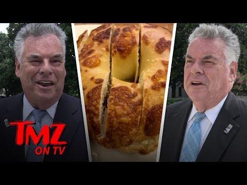 Congressman Weighs In On The Bagel Cutting Debate   TMZ TV