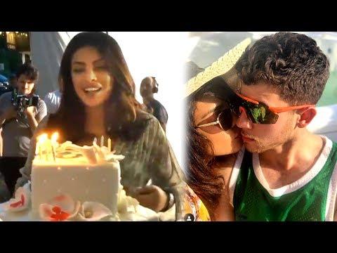Priyanka Chopra Cuts Her Birthday Cake, Best Moments With Nick Jonas