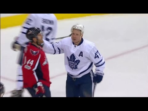 Auston Matthews great assist on Leo Komarov Goal  1/3/2017 (Maple Leafs vs Capitals)