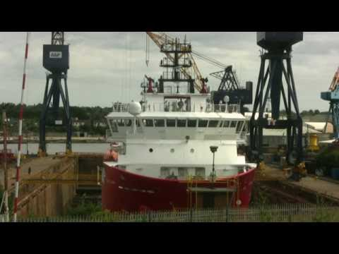 Offshore Supply Ship Pacific Leader in the Dry Dock at Hebburn 12th July 2016
