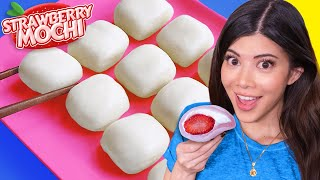 I tried Squishy Strawberry Milk Mochi