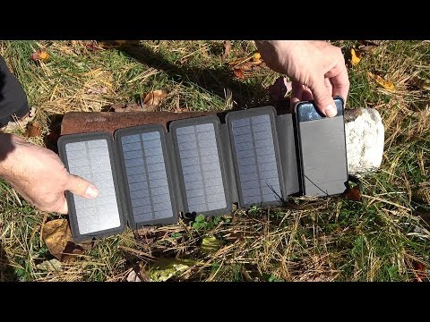 Foldable and Detachable 5000mAh Solar Panel Powerbank Review.