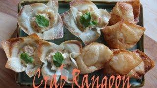 Appetizers: Crab Rangoon