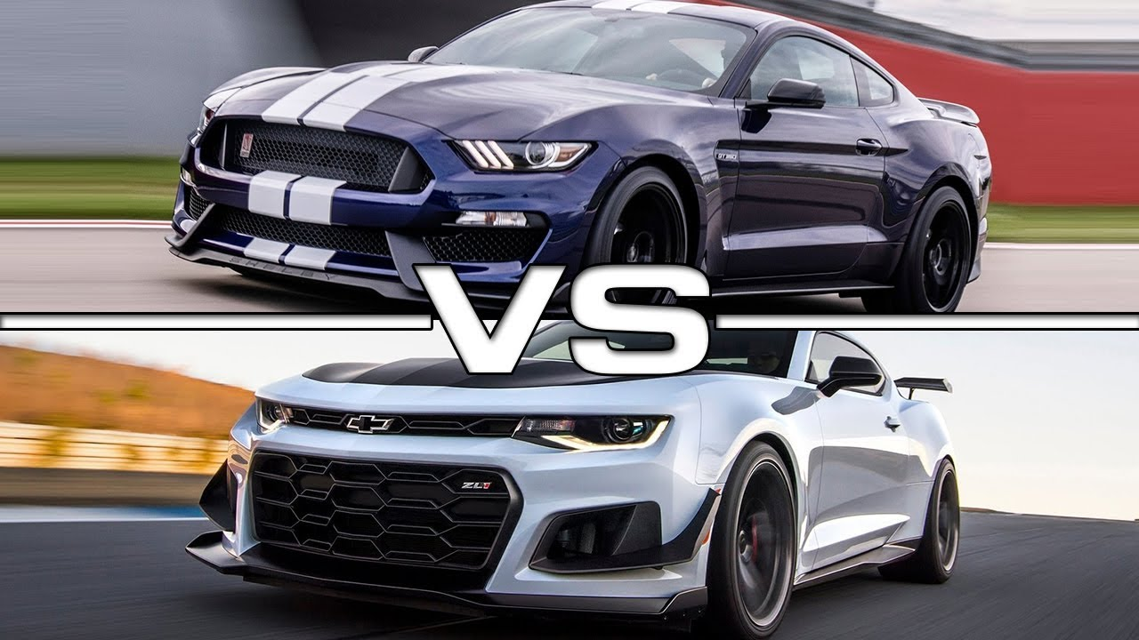 2019 ford mustang shelby gt350 vs 2018 chevrolet camaro zl1
