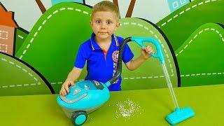 Пылесос для детей - Играем в уборку и учимся пылесосить. Развивающее деткое видео