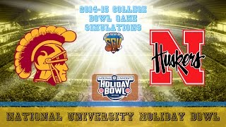 National University Holiday Bowl Sim - USC vs Nebraska (NCAA Football 14 - Xbox 360)